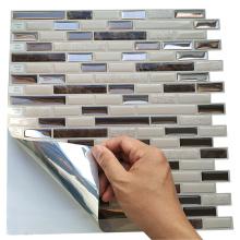 Carreaux de salle de bains auto-adhésifs de mosaïque de décor de dosseret