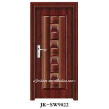 Porte blindée en bois d'acier de luxe