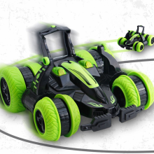 Newest 2.4G remote control racing truck 360 degree roll with left right drift rc stunt car