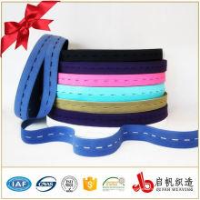 100% algodão elástico marca novo botão elástico / cós elástico macio / personalizado elástico jacquard banda