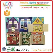 new intelligent wooden puzzle door lock toys for baby