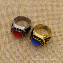 Custom Metal 3D Souvenir Ring mit Diamanten