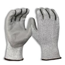 Palm getauchte Polyurethan beschichtete nahtlose stricken Arbeits-Level 5 Cut Resistant Handschuhe