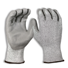 Palm Dipped Polyurethane Coated Seamless Knit Work Level 5 Cut Resistant Gloves