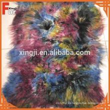 Pelo largo rizado mongol cordero placa de piel