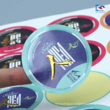 Estampagem de ouro carimbando etiquetas de fita de peixe para embalagens de artes de pesca