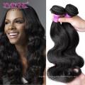 Natürliche Farbe Unverarbeitete Körperwelle Peruanische Jungfrau Haar