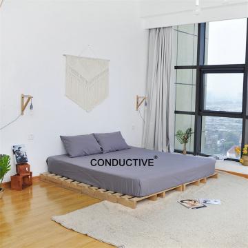 Lençóis de conexão aterrada para cuidados saudáveis condutivos