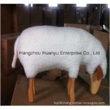 Ride on Wooden Stuffed Animal-Sheep