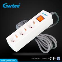 Prise de courant électrique 13A plug eu avec fiche européenne