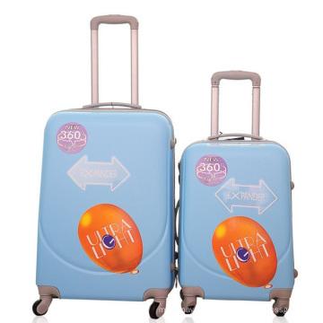 Caisse rigide de chariot à bagage de voyage en plastique d'ABS
