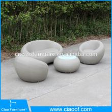Nouveau produit en plein air meubles en cuir rond canapé ensemble