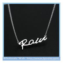 Trendy 925 prata personalizada letras moda fina cadeia pingente pingente sexy