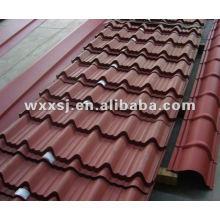 Tôle d'acier galvanisé ondulé toiture, tuile de couleur
