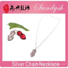 Trendy Schmuck Roman Peanut Anhänger 925 Silber Halskette Geschenk