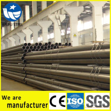 Black welded structural ERW Q235 steel pipe