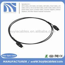 1M cabo de áudio digital Toslink fibra óptica