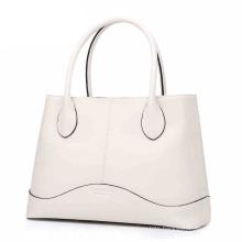 Wholesale Fashion Large Space Leather Custom White PU Ladies′ Handbag (ZX10097)