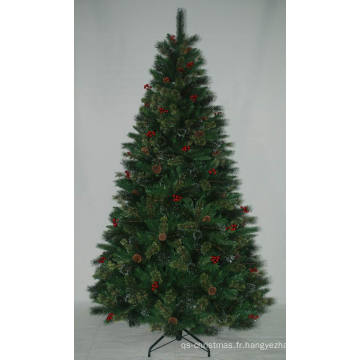 Arbre de Noël artificiel réaliste avec String Light Multi Color LED Decoration Berry (AT2115)