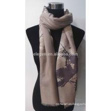 Bufanda de alta calidad de la impresión de F / Wool