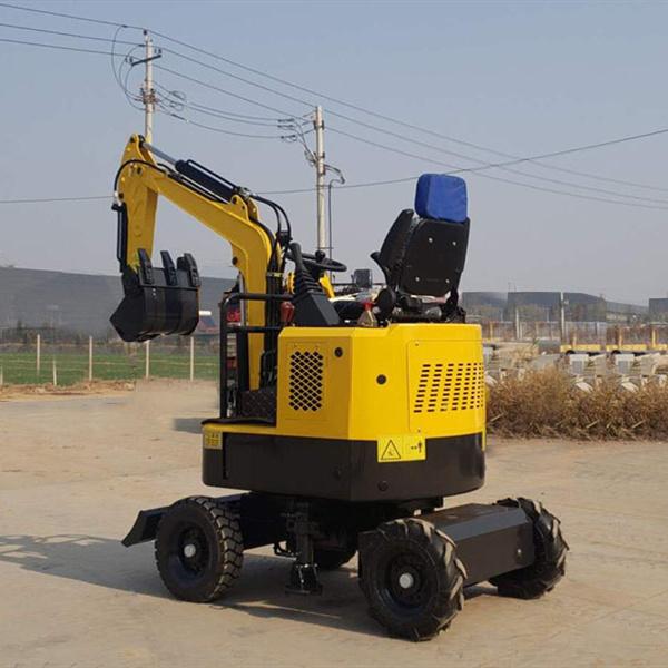 mini wheeled excavator