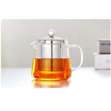 450ml / 600ml Mini Teapot de vidro com infusão de aço inoxidável para atacadista