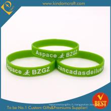 Bracelet promotionnel en silicone imprimé en caoutchouc Marathon (LN-035)
