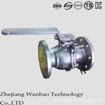 GB Flanged Stainless Steel Manul Floating Ball Valve for Industry