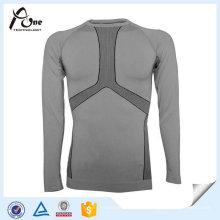 Sous-vêtements longs de Johns de polyester d'élasthanne de sports des hommes