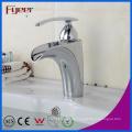 Fyeer Fashion Bathroom descubrió un gran flujo de agua Una sola manija Chrome Basin Faucet Grifo mezclador caliente y frío