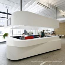 White front desk reception counter for sale