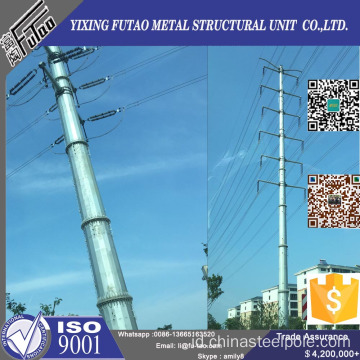 11.5m 12m Transmission Power Poles Dengan Galvanized