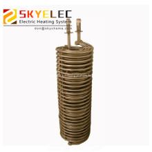 Intercambiador de calor de tubo de metal sumergido en productos químicos