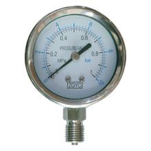 Medidor de presión de cañón acero