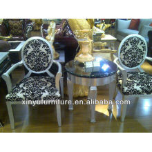 Armrest wooden chair and table sets XYD132