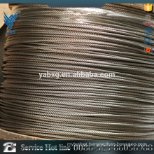 Hot Soft stainless steel wire rope with high quality