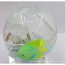 Hi Led Agua Bouncing Ball (peces flotando en el interior)