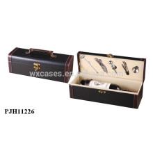 hochwertige Luxus-Leder-Wein-Box für Einzelflaschen-Großhandel Hersteller