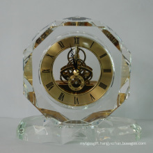 Faces Crystal Clock with Base 2016 New Design