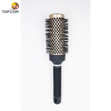 Escova de cabelo antiestática do tambor redondo iónico cerâmico térmico Nano da tecnologia com cerdas do varrão