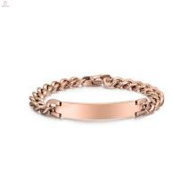 Bracelet Chunky en or rose en acier inoxydable, bijoux de couleur or Rose bijoux Bracelet