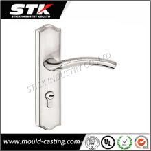 Manija de cerradura de puerta de aleación de zinc con revestimiento (STK-ZDL0014)