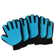 Silicone rubber massage Pet Hair Remover Dog Deshedding Brush stick mitts  Pet Grooming Glove for cat dog horse