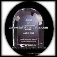 design atraente em branco troféu de cristal X065