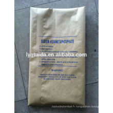 Hexametaphosphate de sodium (retenue d'eau dans l'industrie alimentaire)
