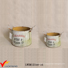Sturbridge Vintage Decorative Metal Pots for Plants Indoor