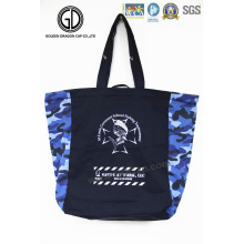 2016 High Quality Blue Camo Tote Bags with Customized Print