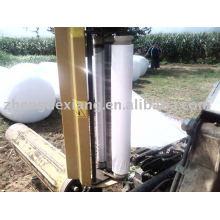 Película branca / preta / verde do envoltório do estiramento da silagem para prensas da grama
