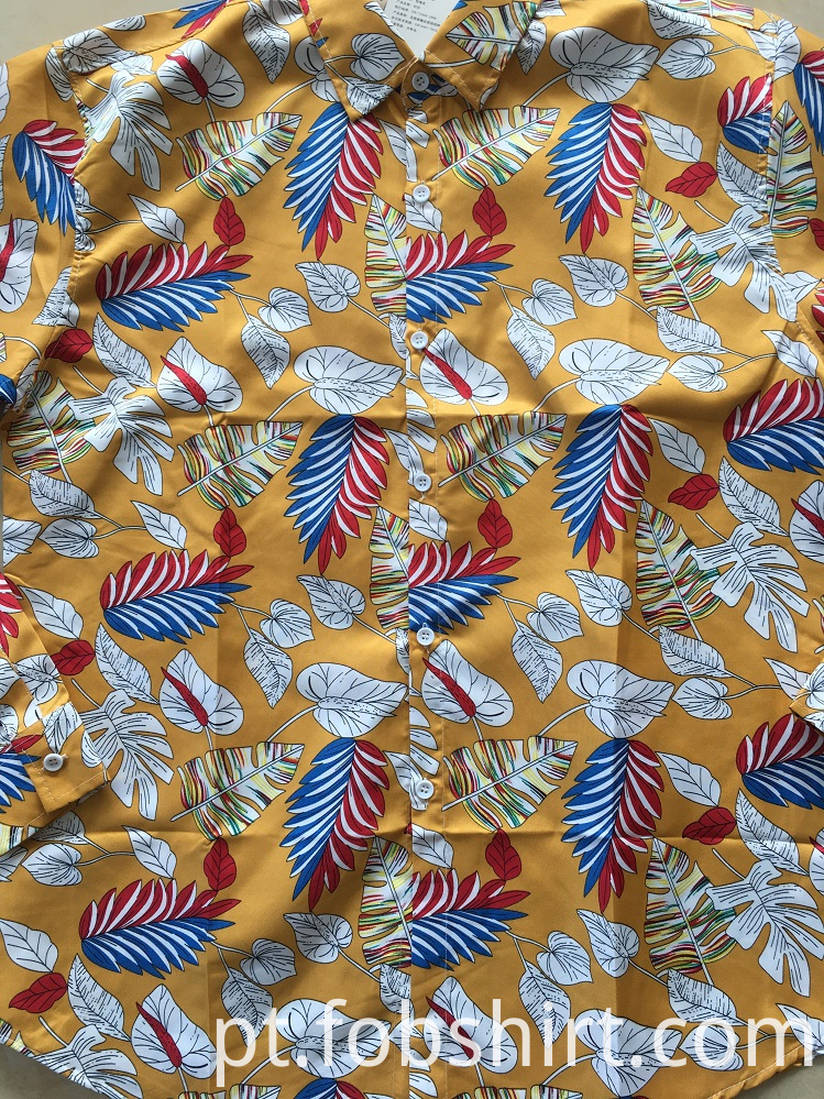 Cotton Print Hawaii Shirt 133x72
