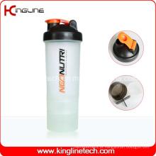 Abanadores de mistura de plástico de 600 ml com compartimento 2 (KL-7029)